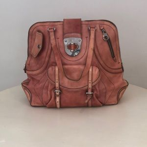 Alexander McQueen Pink Leather Tote Bag